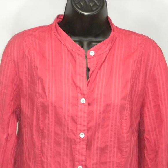 Charter Club Tops - Charter Club Size 16 Striped Button Down Crew Neck